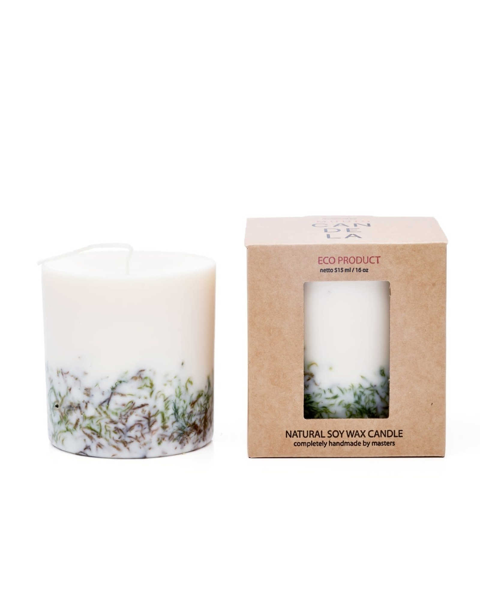 Munio Candela Kaars - Blokkaars - Moss - Natural Soy Wax - 515ml - Dia 8cm x H 10cm - Burn Time 50h