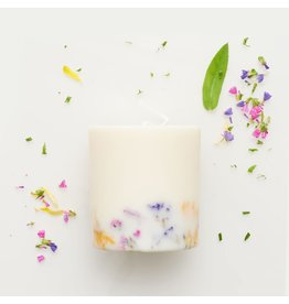 Munio Candela Kaars - Blokkaars - Wild flowers - Natural Soy Wax - 515ml - Dia 8cm x H 10cm - Burn Time 50h