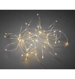 Vanremoortel Micro - LED | 125LED / 1.50m | Zilver draad |Lichtbundel | Warm Wit/op elektriciteit