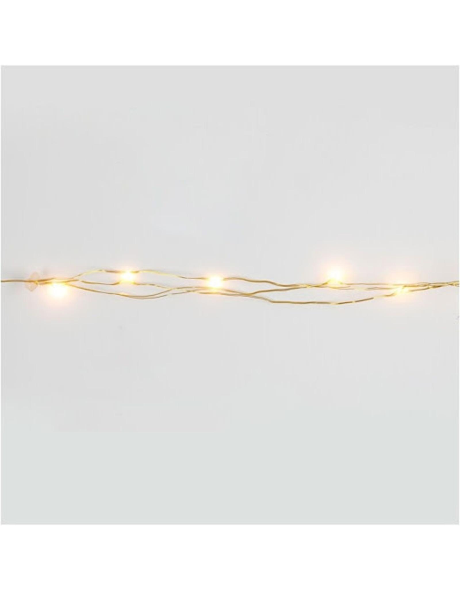 Vanremoortel Micro - LED | 20LED / 3.15m | Goud draad | strengverlichting | Warm Wit | Op batterijen