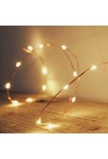 Vanremoortel Micro - LED | 60LED / 2.95m | Zilver draad | strengverlichting | Warm Wit | Op batterijen