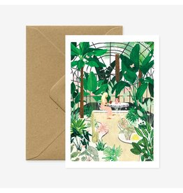 ATWS Wenskaart - Butterfly greenhouse  - Dubbele kaart + Envelop - 11,5 x 16,5 - Blanco