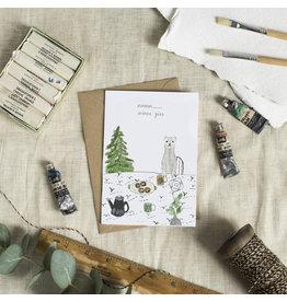 Dear Prudence Wenskaart- Kerst - Mmmm mince pies- dubbele kaart