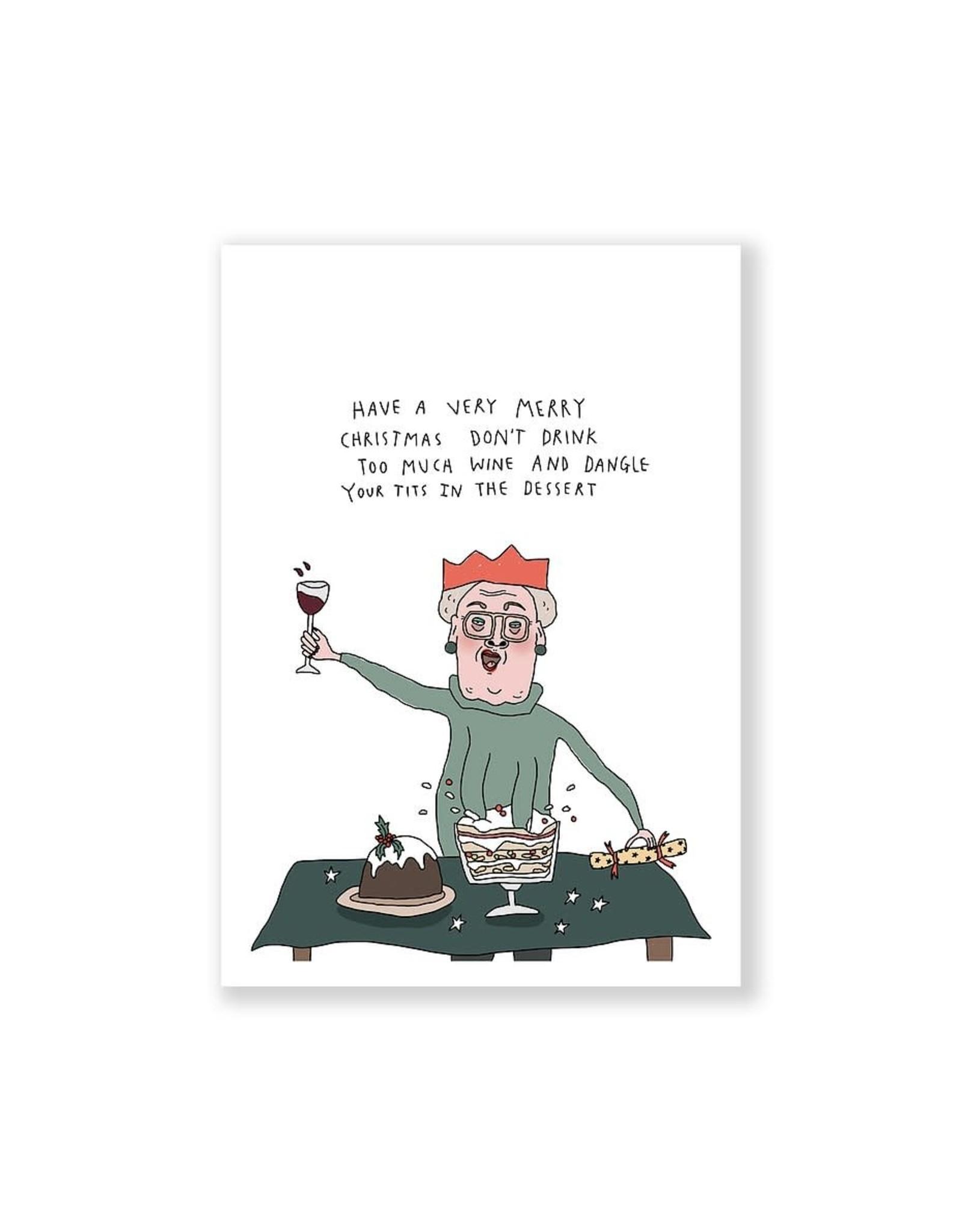 Eat Mielies Wenskaart - Kerst - Tits in the dessert - dubbele kaart met envelop