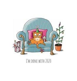 Fries Donche wenskaart -kerst- I'm done with 2020 - enkele kaart met envelop