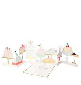 Meri Meri Wenskaart - Cake - Concertina + envelop - 13,5 x 18,5 - Happy Birthday