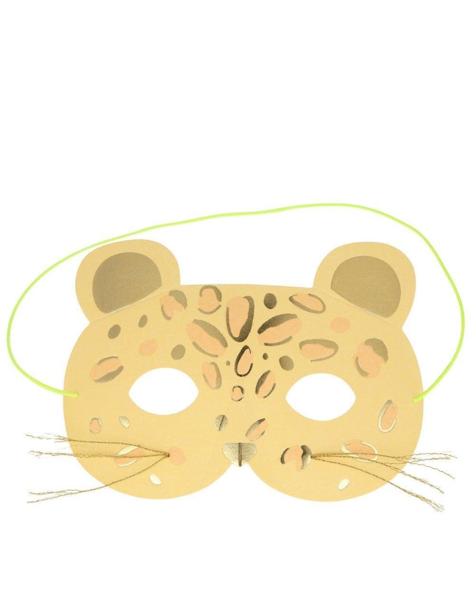Meri Meri Wenskaart - Leopard Mask + envelop - 13,5 x 18,5 - Happy Birthday