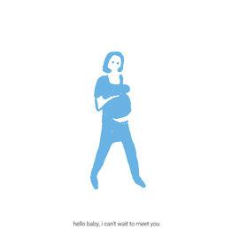 Kayo Quintens Wenskaart - Zwanger/Hello baby - postkaart met envelop