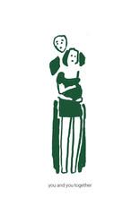Kayo Quintens Wenskaart - Zwanger/You and you together - postkaart met envelop
