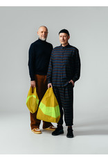 Suzan Bijl Shopping bag L, Helio & Fluo Yellow | 37,5 x 69 x 34cm