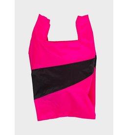Susan Bijl Shopping bag L, Pretty pink & Black | 37,5 x 69 x 34cm
