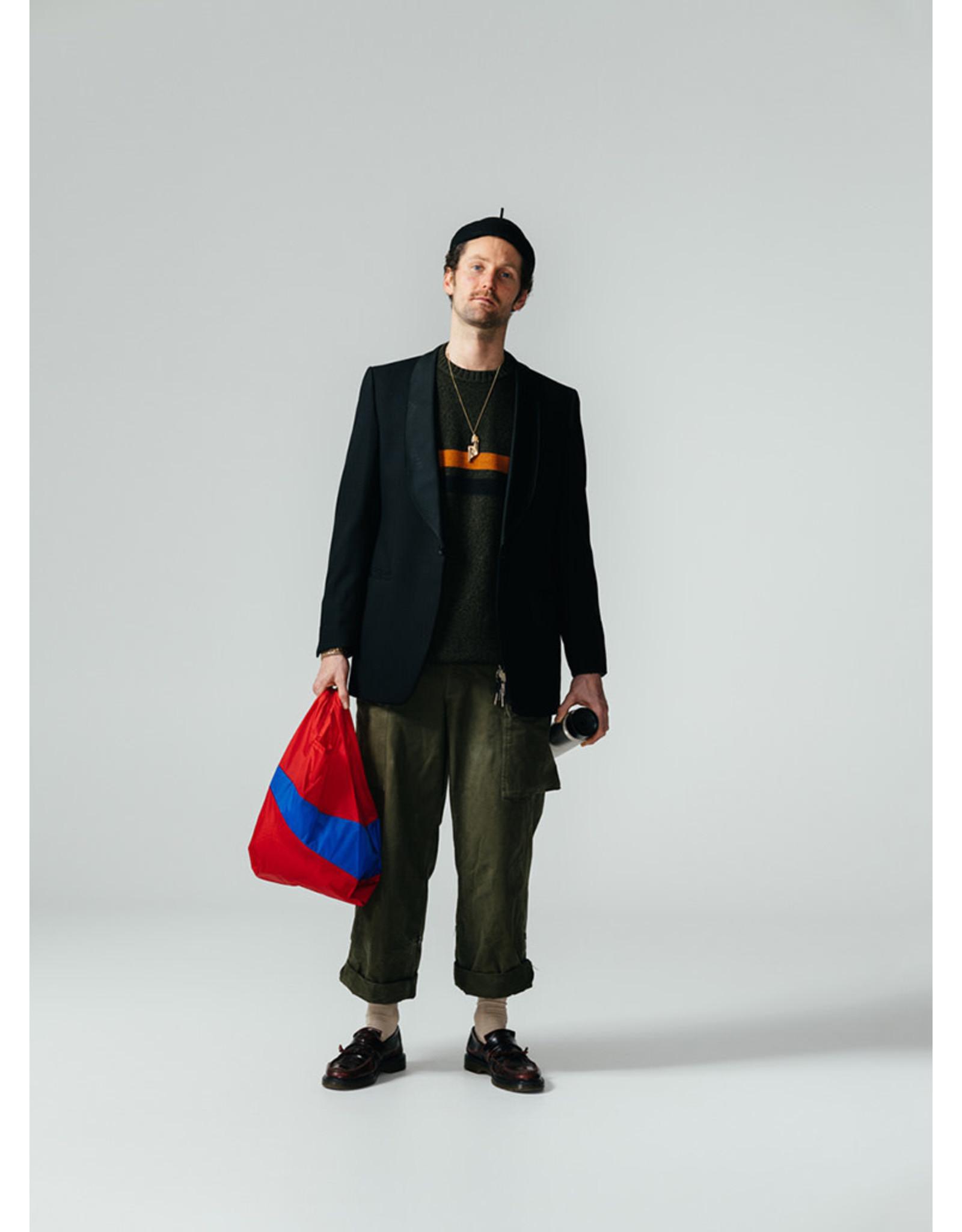 Susan Bijl Shopping bag L, Redlight & Blueblack | 37,5 x 69 x 34cm