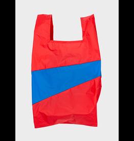 Suzan Bijl Shopping bag L, Redlight & Blueblack | 37,5 x 69 x 34cm