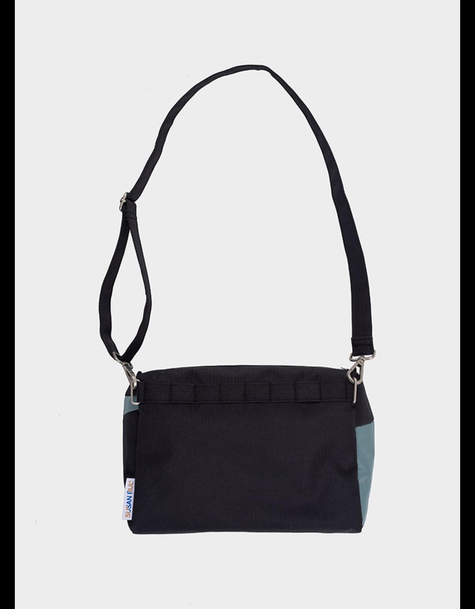 Suzan Bijl Bum Bag M, Black & Grey   19 x 28 x 8,5