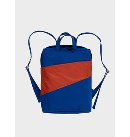 Susan Bijl Backpack, Electric Blue & Rust - One size