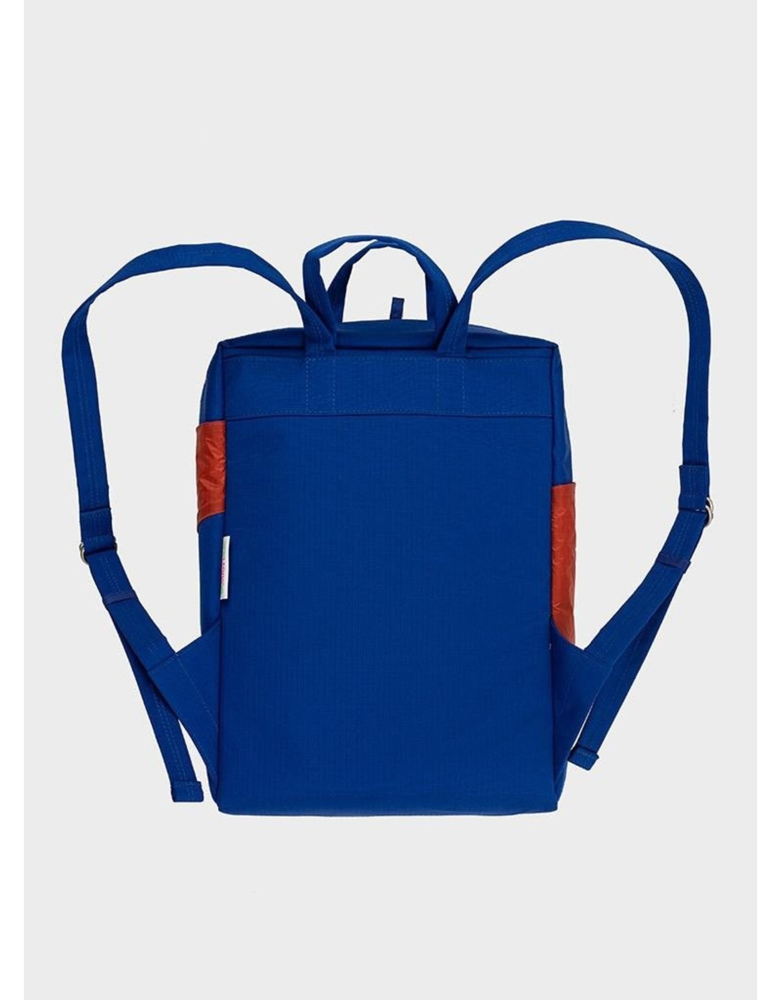 Susan Bijl Back Pack, Electric Blue & Rust | One size