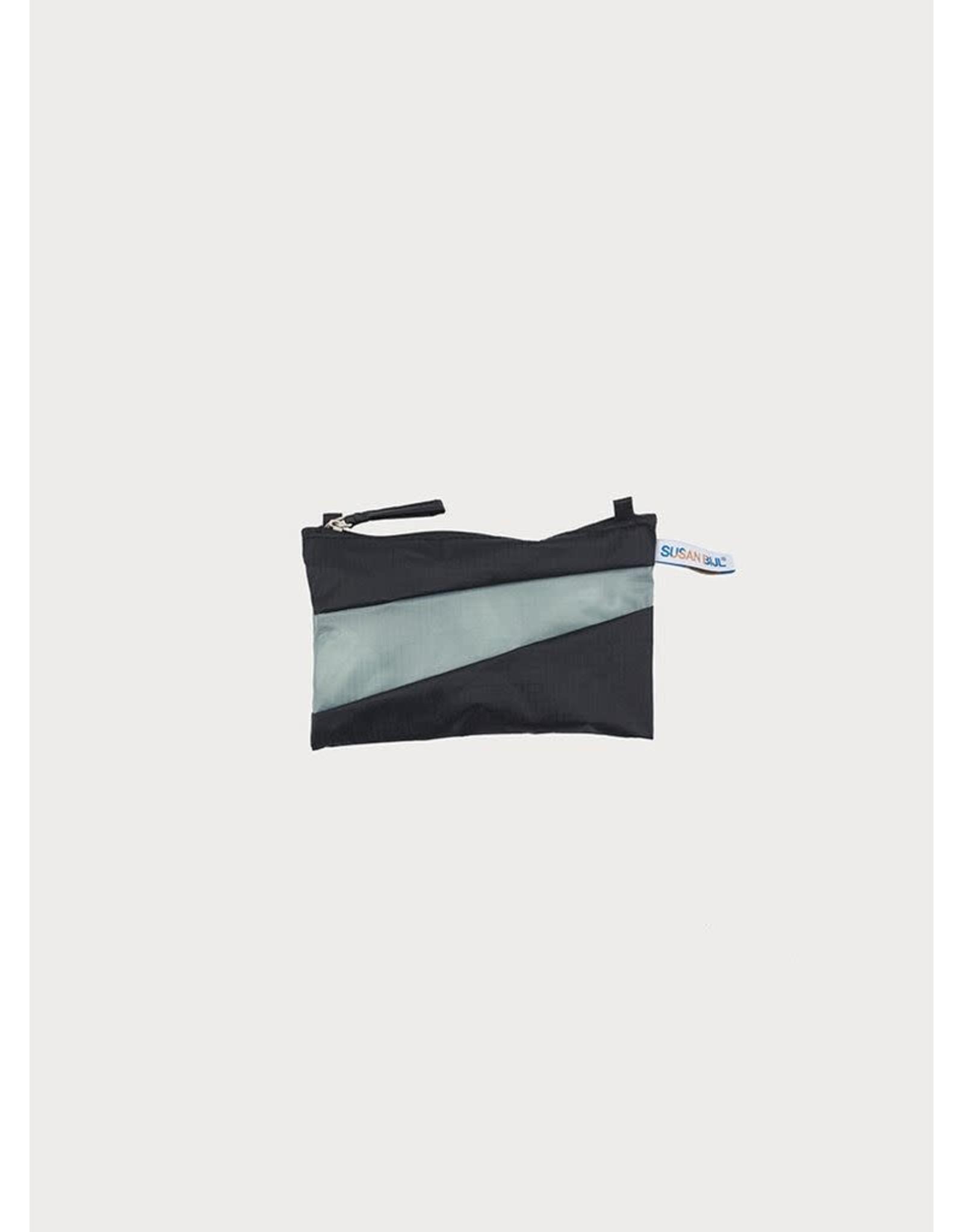 Suzan Bijl Pouch S, Black & Grey | 19 x 13cm