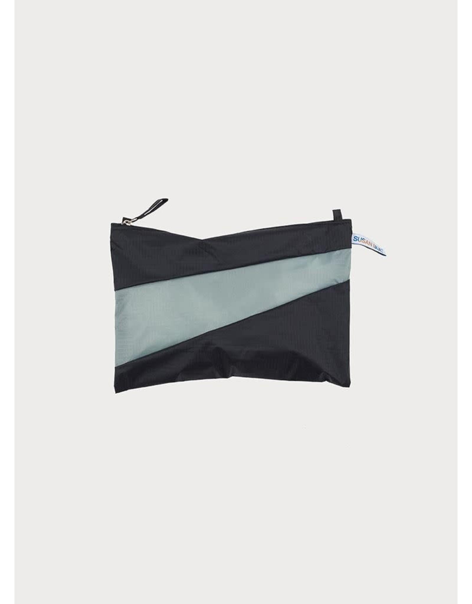 Suzan Bijl Pouch M, Black & Grey | 19 x 29cm