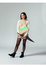 Suzan Bijl Pouch L, Powder & Greenscreen | 35 x 25cm