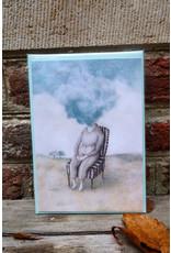 Liese Aerts Wenskaart - Wolkkop - postkaart met envelop A6
