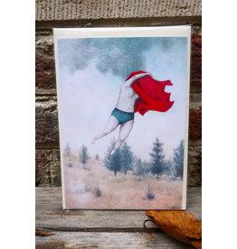 Liese Aerts Wenskaart - Supervrouw - postkaart met envelop A6