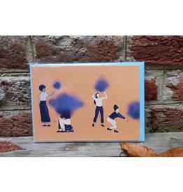 Wenskaart - Samen - illustratie Flore De Man - postkaart met envelop A6