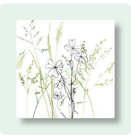 Zintenz Wenskaart - Bloemen - Postkaart + envelop - Blanco - 13,5x13,5