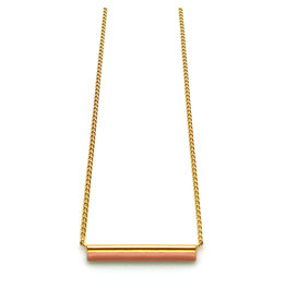 Nadja Carlotti Ketting Sparkle - Perzik - Messing verguld