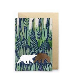 Petit Gramme Wenskaart - Exode  - Dubbele kaart + Envelop - 11,5 x 16,5 - Blanco