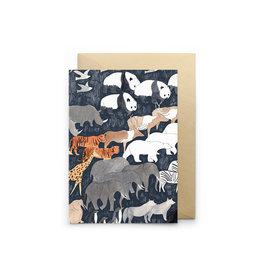 Petit Gramme Wenskaart - Exil  - Dubbele kaart + Envelop - 11,5 x 16,5 - Blanco