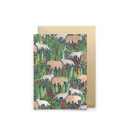 Petit Gramme Wenskaart - Toundra  - Dubbele kaart + Envelop - 11,5 x 16,5 - Blanco
