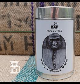 RAF Coffee Kivu coffee | 250g Gemalen Bonen | Complexe koffie, kruidig, goede body, citrus, aangename aciditeit | 100% Congo Kivu Fully Washed Bio
