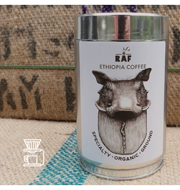 RAF Coffee Ethiopia coffee | 250g Gemalen Bonen | Zoet, fruit, citrus, kruidig, aangename aciditeit | 100% Ethiopia Sidama (washed en natural)