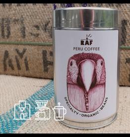 RAF Coffee Peru coffee | 250g Bonen | Zoet, licht geaciduleerd, fruitige, notige en wijnachtige toetsen | 100% Peru Microlots Bio