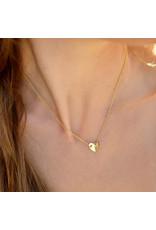 Sopro Ketting Beloved - Simple hearts - Zilver Verguld - Lengte 43cm