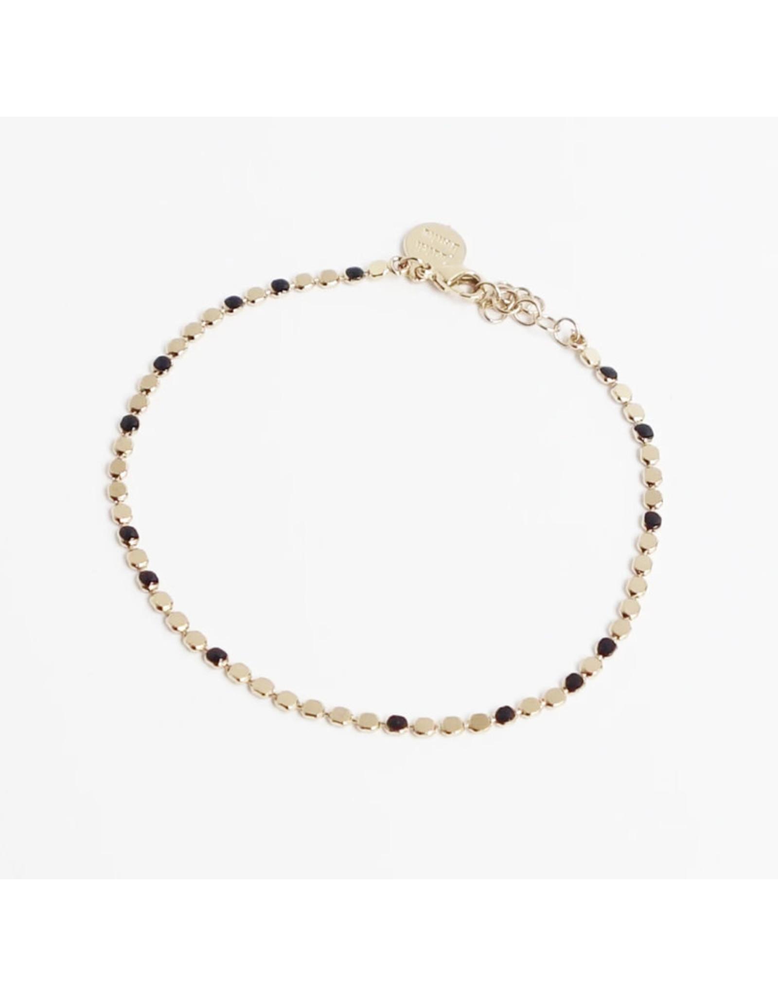 Judith Benita Armband Molto Simple - Zwart - Messing Verguld - Lengte 15,5cm