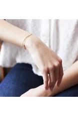 Judith Benita Armband Molto Multi - Blauw - Messing Verguld - Lengte 15,5cm