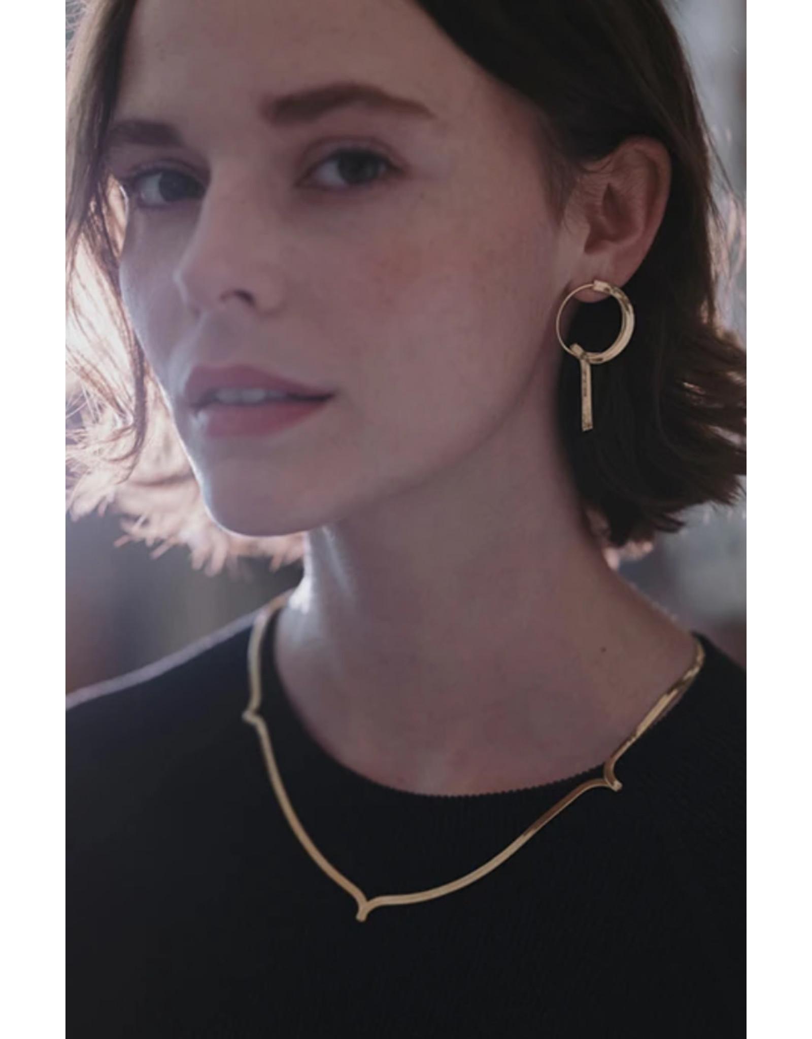 Judith Benita Creool Myrrhe - Goud - Messing Verguld - Lengte 4,5cm