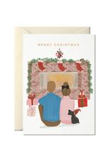 Nelly Castro Wenskaart - Kerst - Christmas at home - gevouwen kaart met envelop