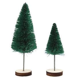 Creotime Mini kerstboompjes - Groen - 5st - H 40 en 60mm