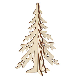 Creotime 3D Kerstboom - Hout  - H 20 W 13cm