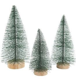 Creotime Kerstboompjes  - 3st - H 10, 13, 14cm