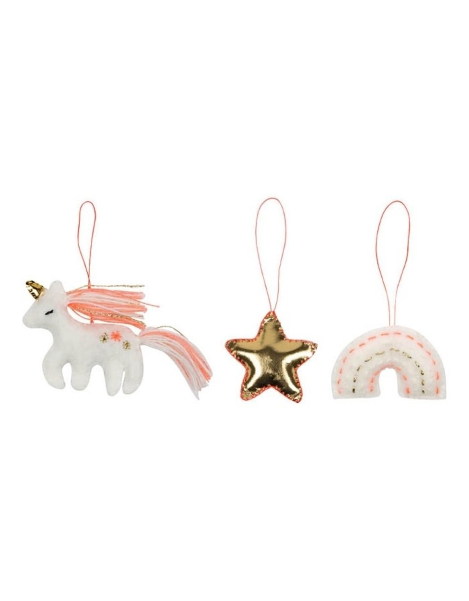 Meri Meri Hanging decoration | Unicorn, Ster en Regenboog