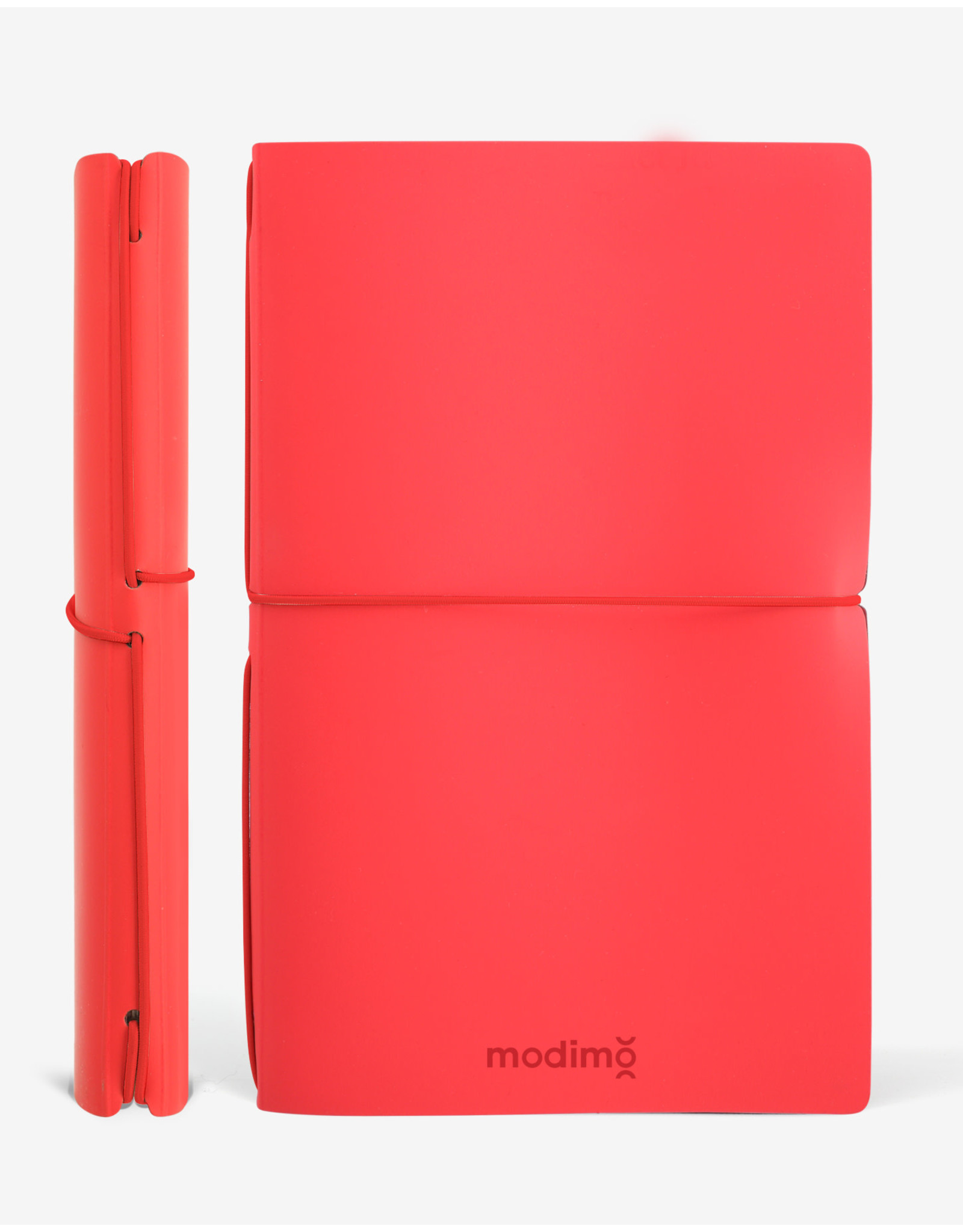 Modimo Bullet journal Red - My plan - White - 13 x 21 cm - Flexible regenerated leather