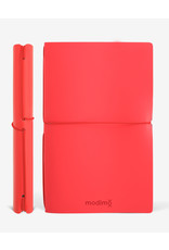 Modimo Bullet journal Red - My plan - White - 10 x 15 cm - Flexible regenerated leather
