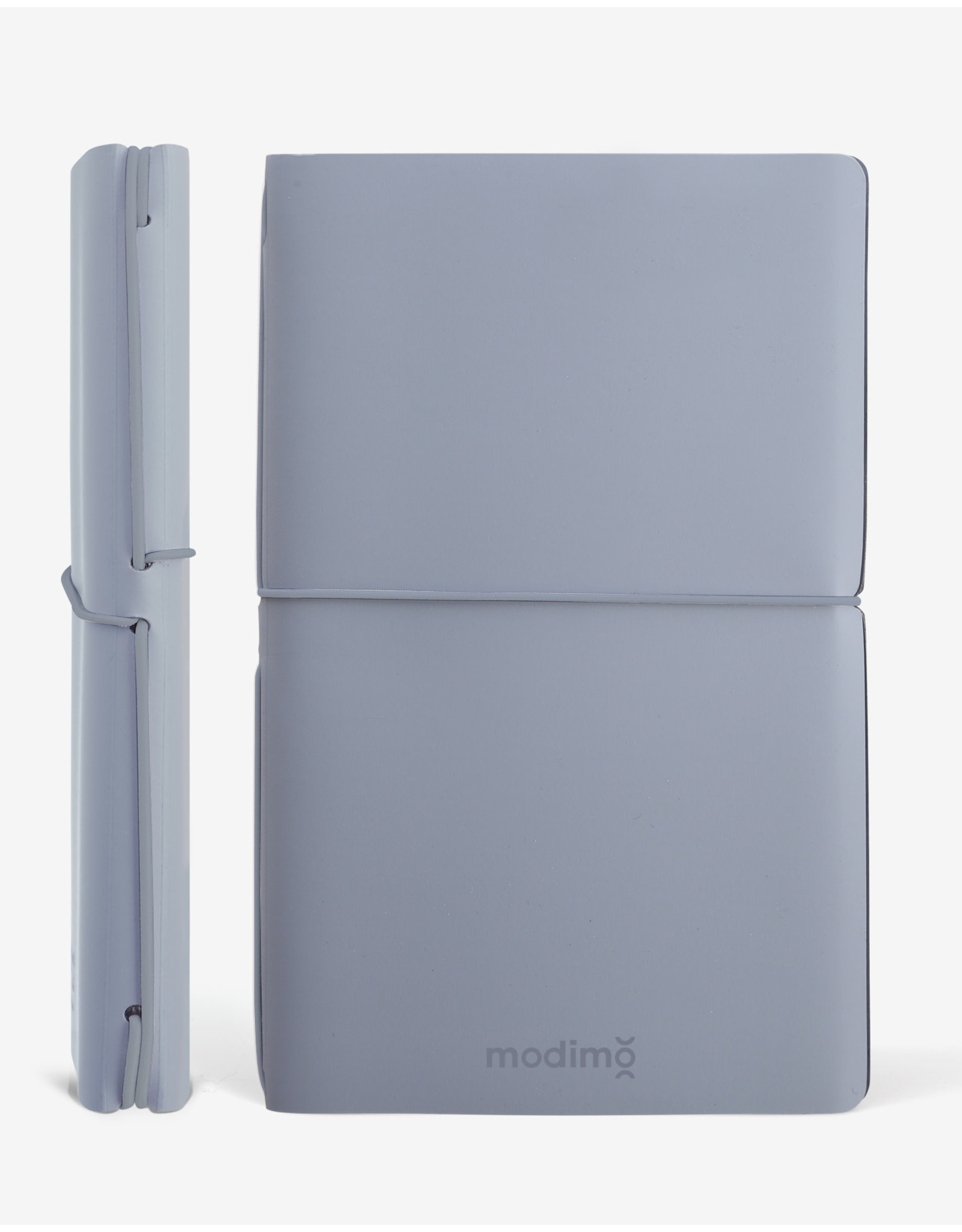 Modimo Bullet journal Light blue - My plan - White - 10 x 15 cm - Flexible regenerated leather