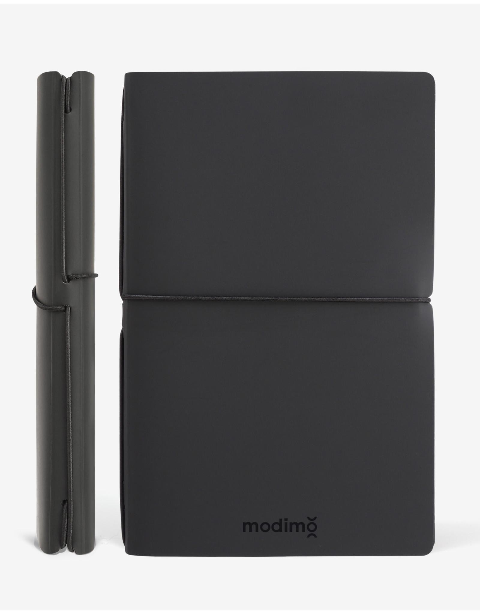 Modimo Bullet journal Black - My plan - White - 10 x 15 cm - Flexible regenerated leather