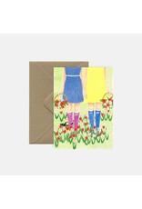 Pink Cloud Studio Wenskaart- Friends - dubbele kaart met envelop