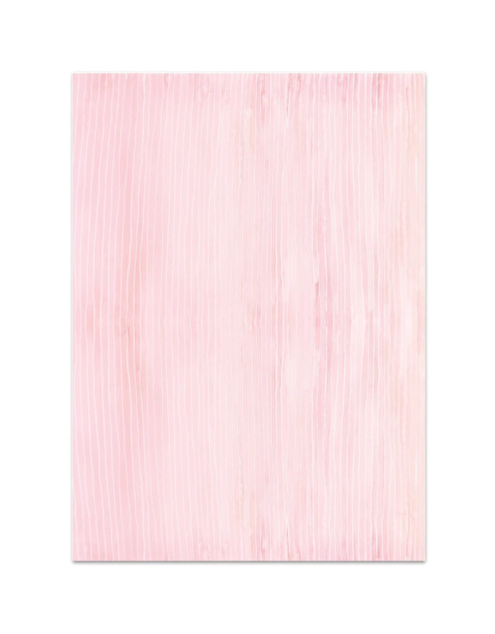 Leo La Douce Inpakpapier Roos met strepen - 2 Sheets 50 x70cm
