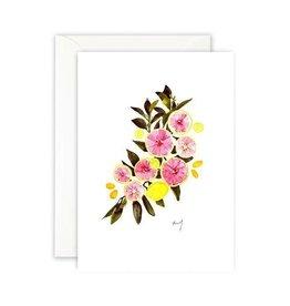 Leo La Douce Wenskaart - Pink Citrus - Dubbele kaart + Envelope - 10 x 15cm